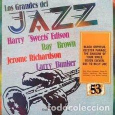 Discos de vinilo: HARRY SWEETS EDISON* / JEROME RICHARDSON / RAY BROWN / LARRY BUNKER - LOS GRANDES DEL JAZZ 53 (LP,. Lote 152342846