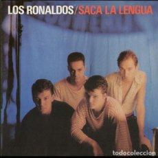 Discos de vinilo: LOS RONALDOS : SACA LA LENGUA. LP. CON ENCARTE. EMI, 1988. Lote 152345226