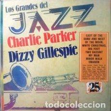 Discos de vinilo: CHARLIE PARKER / DIZZY GILLESPIE - LOS GRANDES DEL JAZZ 25 (LP, COMP) LABEL:SARPE CAT#: GJ-25 . Lote 152345814