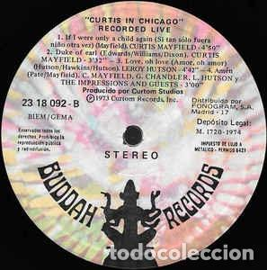 Discos de vinilo: Curtis Mayfield ?– Curtis In Chicago - Recorded Live Sello: Buddah Records ?– 23 18 092 Formato: LP - Foto 3 - 152360534
