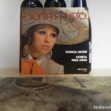 Discos de vinilo: SONIA FAUSTO - PATRICIA LUCERO / LICENCIA PARA AMAR ...(VER ESTADO FUNDA). Lote 152361586