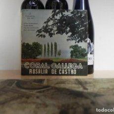 Discos de vinilo: CORAL GALLEGA ROSALIA DE CASTRO COLUMBIA ...(VER ESTADO FUNDA). Lote 152361866