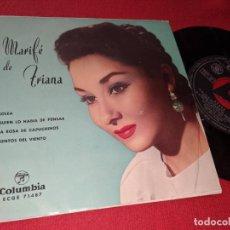 Discos de vinilo: MARIFE DE TRIANA SOLEA/QUIEN LO HABIA DE PENSAR/LA ROSA DE CAPUCHINOS/+1 7'' EP 1961 COLUMBIA. Lote 152372534