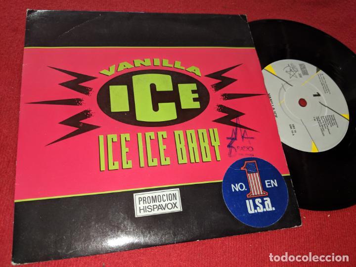 VANILLA ICE ICE ICE BABY/IT'S A PARTY 7'' SINGLE 1990 SBK PROMO EU (Música - Discos - Singles Vinilo - Rap / Hip Hop)