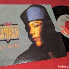 Discos de vinilo: QUEEN LATIFAH FLY GIRL (VOCAL) 7'' SINGLE 1991 GRABACIONES ACCIDENTALES DOBLE CARA SPAIN. Lote 152374230