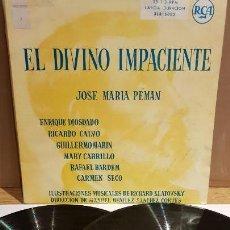 Discos de vinilo: EL DIVINO IMPACIENTE / JOSÉ MARÍA PEMÁN / VARIOS ARTISTAS / DOBLE LP-GATEFOLD - RCA - 1958 ***/***. Lote 152385582