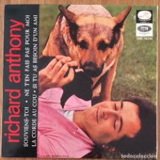 Discos de vinilo: RICHARD ANTHONY EP 1964 BUENA CONSERVACION SOUVIENS-TOI. Lote 152385602
