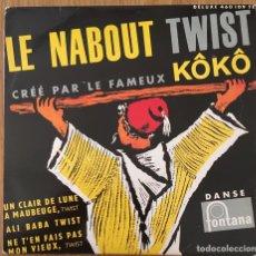 Discos de vinilo: KOKO LE NABOUT TWIST EP (CLAUDE FRANÇOIS) FONTANA EXCELENTE. Lote 152394930