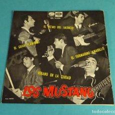 Discos de vinilo: LOS MUSTANG. EL RITMO DEL SILENCIO. EL GRAN FLAMINGO. EL SUBMARINO AMARILLO. VERANO EN LA CIUDAD. Lote 152403034