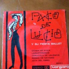 Discos de vinilo: PACO DE LUCÍA Y SU FIESTA DE BALLET. Lote 152405576