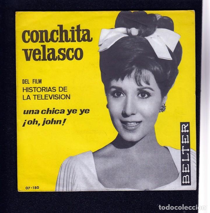 CONCHITA VELASCO: CHICA YE YE- BEATLES CHICA YEYE-SOLO PORTADA SIN VINILO- PAPEL IMPECABLE (Música - Discos - Singles Vinilo - Solistas Españoles de los 50 y 60)