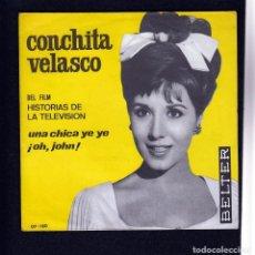 Discos de vinilo: CONCHITA VELASCO: CHICA YE YE- BEATLES CHICA YEYE-SOLO PORTADA SIN VINILO- PAPEL IMPECABLE. Lote 152419054
