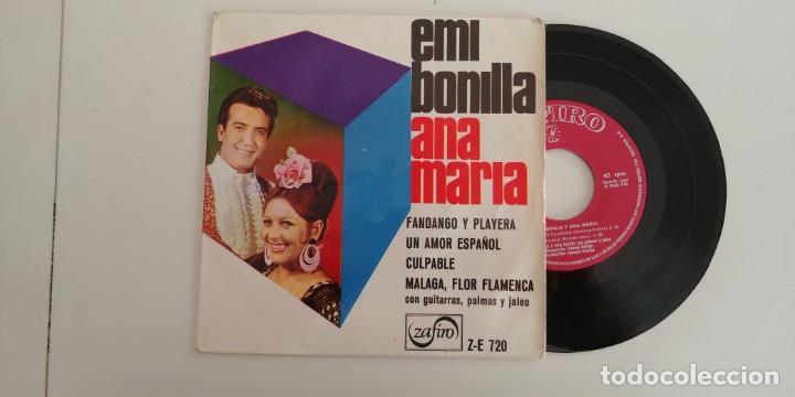 EMI BONILLA Y ANA MARIA-EP FANDANGO Y PLAYERA +3 (Música - Discos de Vinilo - EPs - Flamenco, Canción española y Cuplé)