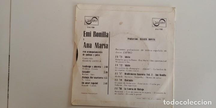 Discos de vinilo: EMI BONILLA Y ANA MARIA-EP FANDANGO Y PLAYERA +3 - Foto 2 - 152425122