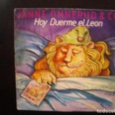 Discos de vinilo: JANE ONNERUD & CO- THE LION SLEEPS TONIGHT. SINGLE. Lote 152438002