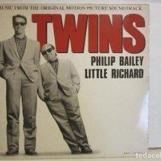 Discos de vinilo: PHILIP BAILEY / LITTLE RICHARD - TWINS - BSO - 1989 - MAXI - SPAIN - VG+/VG. Lote 152440750
