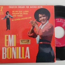 Discos de vinilo: EMI BONILLA-EP NO HAY QUE LLORAR +3. Lote 152443638