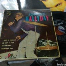 Discos de vinilo: JOHNNY HALLYDAY EN NUEVA YORK EP I GOT A WOMAN + 3 1963 ESCUCHADO. Lote 152451788