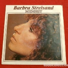 Discos de vinilo: BARBRA STREISAND (SINGLE ED. HOLANDESA 1981) MEMORY - BARBARA STREISAND - EVERGREEN (A STAR IS BORN). Lote 152452538