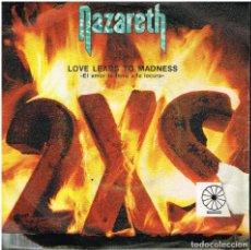 Discos de vinilo: NAZARETH - LOVE LEADS TO MADNESS / TAKE THE RAP - LP 1982. Lote 152455830