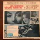 Discos de vinilo: FRANCIS LAI – UN HOMME ET UNE FEMME = UN HOMBRE Y UNA MUJER (BANDA SONORA ORIGINAL DE LA PELÍCULA) . Lote 152459206