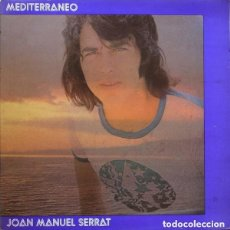Discos de vinilo: JOAN MANUEL SERRAT - MEDITERRANEO - DOBLE CARPETA. LP ZAFIRO (NLX-1031- G) SPAIN REEDICION. Lote 152460898