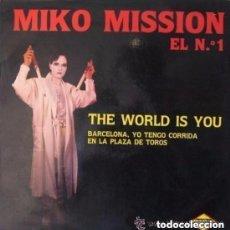 Discos de vinilo: MIKO MISSION, THE WORLD IS YOU - MAXI-SINGLE MAX MUSIC (SPAIN) 1985. Lote 152464886