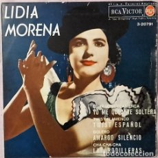 Discos de vinilo: LIDIA MORENA-YO ME QUEDARE SOLTERA + TWIST ESPAÑOL + AMARGO SILENCIO + LAS RODILLERAS EP. Lote 152464390