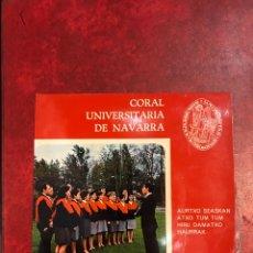 Discos de vinilo: CORAL UNIVERSITARIA DE NAVARRA EP DE 1968. Lote 152473042