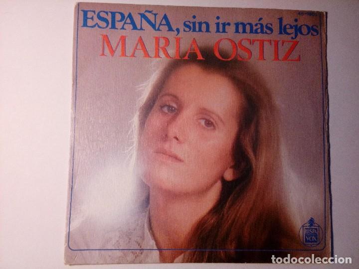 Discos de vinilo: María Ostiz España sin ir más lejos El Cantor Hispavox Madrid España 1978 - Foto 2 - 152474074
