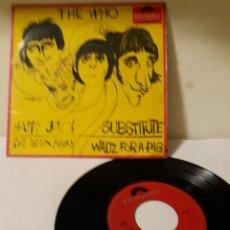 Discos de vinilo: DISCO THE WHO HAPPY JACK. Lote 152476537