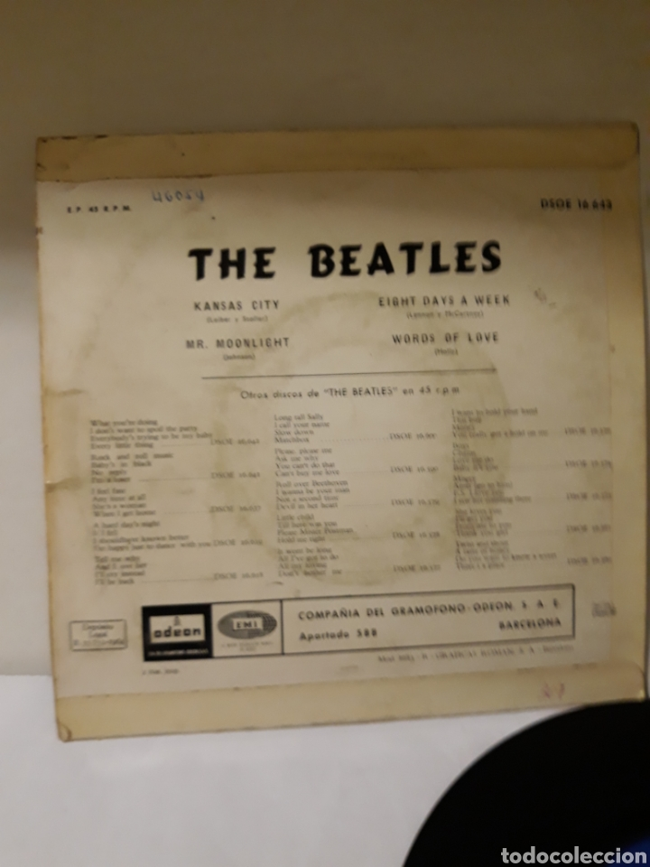 Discos de vinilo: DISCO THE BEATLES KANSAS CITY - Foto 2 - 152476918