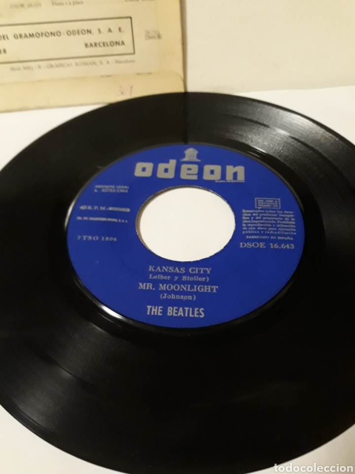 Discos de vinilo: DISCO THE BEATLES KANSAS CITY - Foto 3 - 152476918
