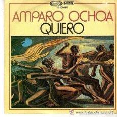 Discos de vinilo: AMPARO OCHOA - QUIERO / EL BARZON - SINGLE PROMO SPAIN 1979 . Lote 152477190