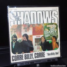 Discos de vinilo: THE SHADOWS--RUN BILLY, RUN & HONORABLE PUFF -PUFF --- EMI J-006-05912 AÑO 1975. Lote 147539882