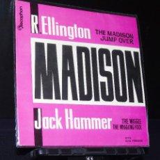 Discos de vinilo: RAY ELLINGTON & JACK HAMMER - THE MADISON /THE WIGGLE + 2. AÑO 1962 DISCOPHON.-- POCAS COPIAS. Lote 150034882