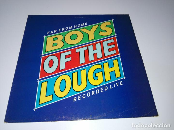 LP-BOYS OF THE LOUGH-FAR FROM HOME LIVE-BUEN ESTADO-1986-AUK RECORDS-9 TEMAS-VER FOTOS (Música - Discos - LP Vinilo - Country y Folk)