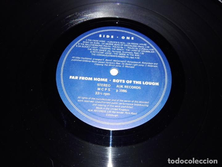 Discos de vinilo: LP-BOYS OF THE LOUGH-FAR FROM HOME LIVE-BUEN ESTADO-1986-AUK RECORDS-9 TEMAS-VER FOTOS - Foto 4 - 152487470