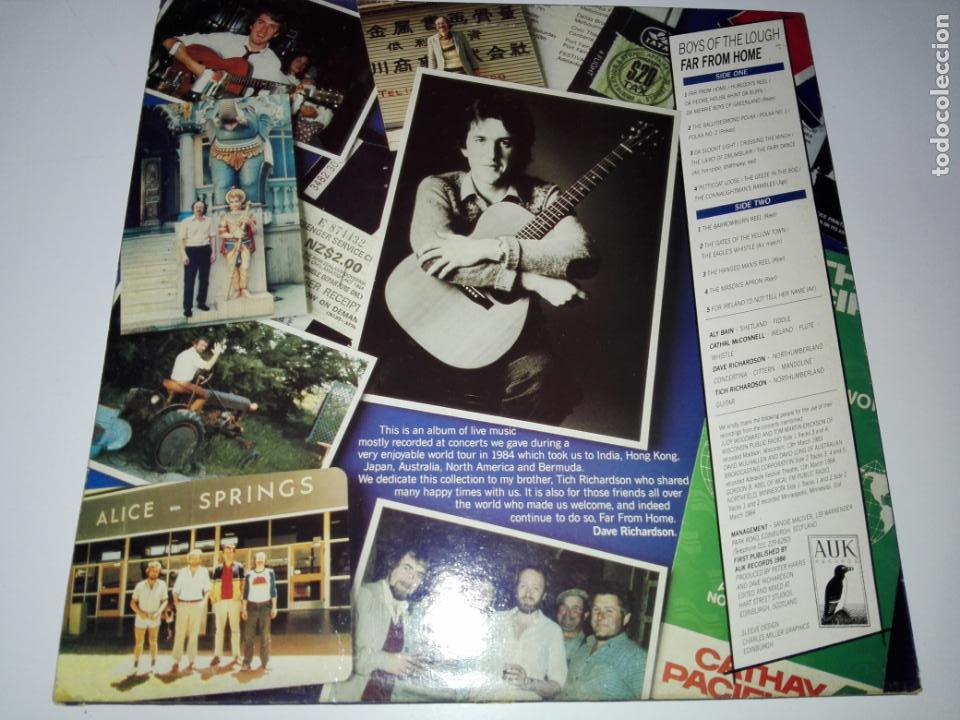 Discos de vinilo: LP-BOYS OF THE LOUGH-FAR FROM HOME LIVE-BUEN ESTADO-1986-AUK RECORDS-9 TEMAS-VER FOTOS - Foto 5 - 152487470