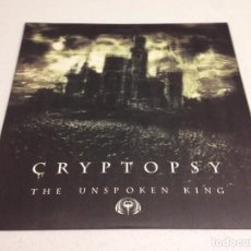 Disques de vinyle: CRYPTOPSY – THE UNSPOKEN KING --DEATH METAL. Lote 152491166
