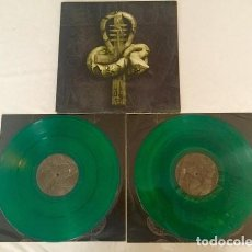 Discos de vinilo: NILE -- IN THEIR DARKENED SHRINES --DOBLE LP DEATH METAL--VINILO VERDE. Lote 152491850