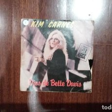 Discos de vinilo: KIM CARNES-OJOS DE BETTE DAVIS. Lote 152493434