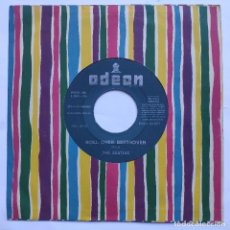 Discos de vinilo: THE BEATLES - 45 SPAIN JUKEBOX - ROLL OVER BEETHOVEN / A HARD DAY'S NIGHT - ODEON DSOL 66.057 -GREEN. Lote 152500842