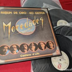 Discos de vinilo: MOCEDADES ALBUM DE ORO 40 EXITOS 4LP 1982 ZAFIRO CAJA BOX AMAYA. Lote 152506966