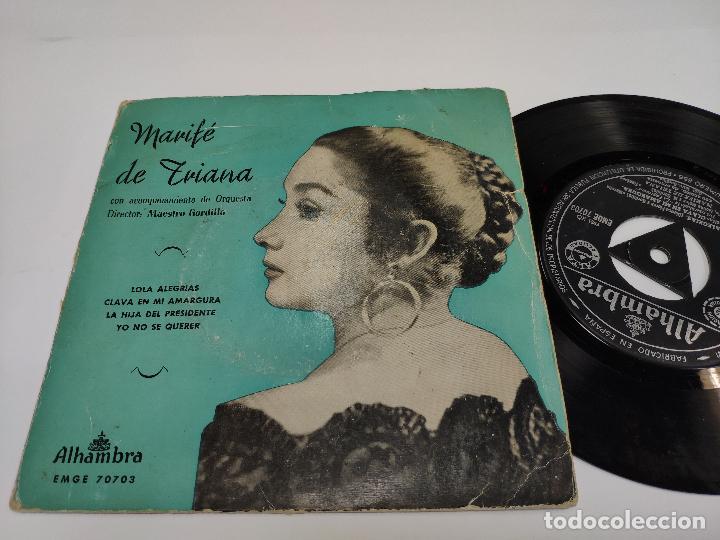 MARIFE DE TRIANA - EP - LOLA ALEGRIAS (Música - Discos de Vinilo - EPs - Otros estilos)