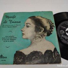 Discos de vinilo: MARIFE DE TRIANA - EP - LOLA ALEGRIAS. Lote 152525538