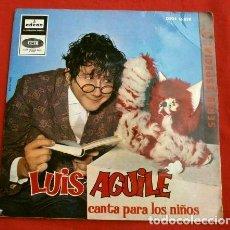 Discos de vinilo: LUIS AGUILE (EP 1964) CANTA PARA LOS NIÑOS - EL BRUJITO DE GULUGU - EL REINO DEL REVES Y DOS MAS. Lote 152553562