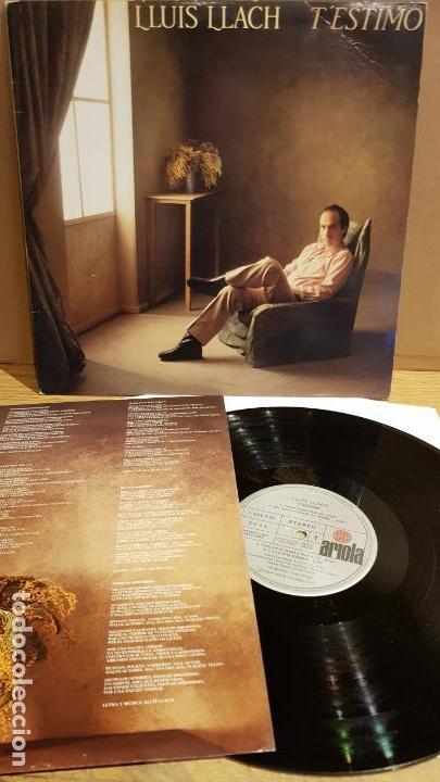 LLUÍS LLACH / T'ESTIMO / LP - ARIOLA - 1984 / MBC. ***/*** (Música - Discos - LP Vinilo - Cantautores Españoles)