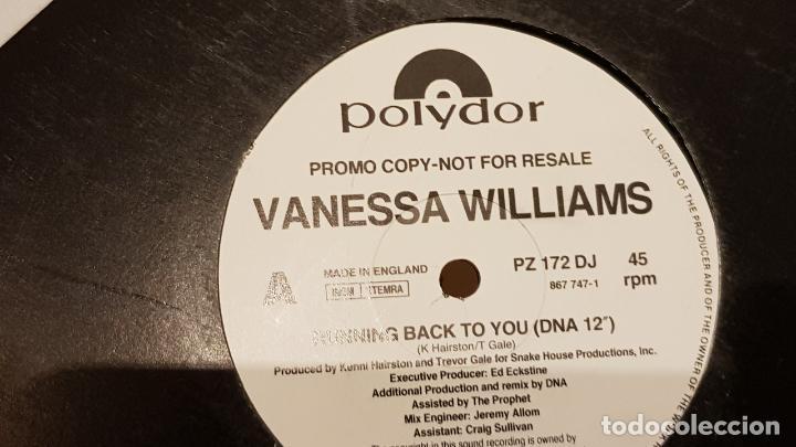 Discos de vinilo: VANESSA WILLIAMS / RUNNING BACK TO YOU / MAX-SG-PROMO - 1991 / MBC. ***/*** - Foto 2 - 152557826