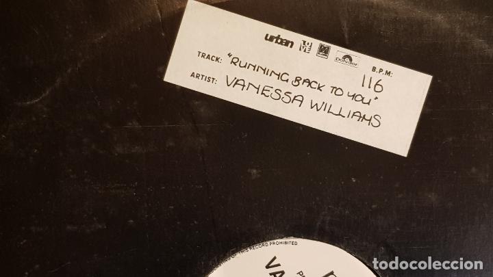 Discos de vinilo: VANESSA WILLIAMS / RUNNING BACK TO YOU / MAX-SG-PROMO - 1991 / MBC. ***/*** - Foto 3 - 152557826